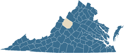 Map of Augusta County